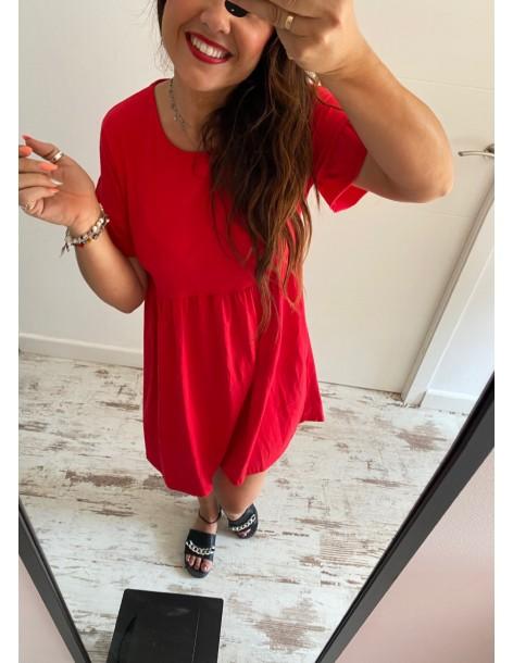 Vestido algodón Susi rojo