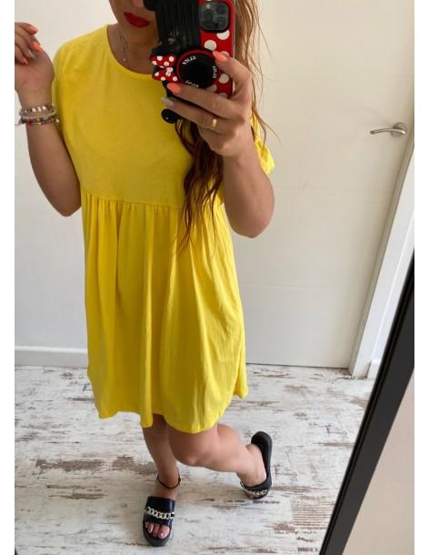 Vestido algodón Susi amarillo