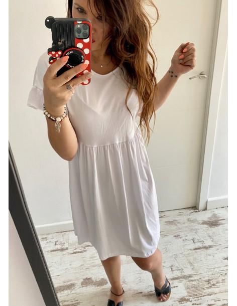 Vestido algodón Susi blanco