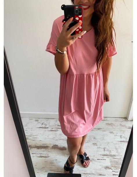 Vestido algodón Susi Rosa