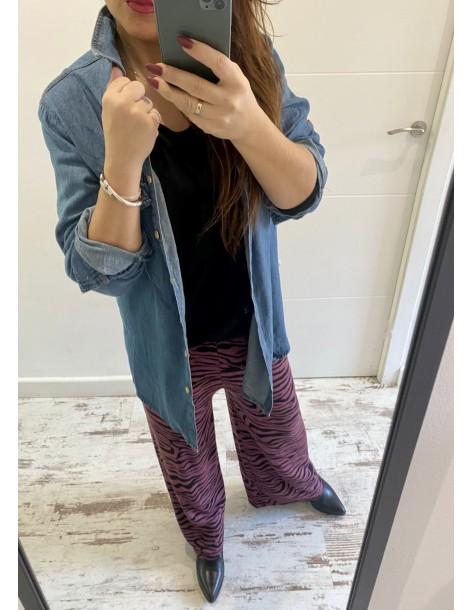 Camisa maxi Color