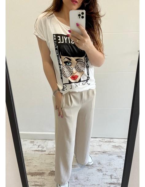 Camiseta Algodón Rolling
